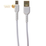 USB дата-кабель Hoco X33 Charging data cable for MicroUSB (1.0м) (4.0A) Белый
