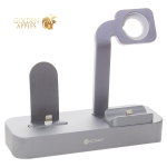 Док-станция COTEetCI Base29 Dock 3in1 для Apple Watch & iPhone LIGHTNING & AirPods Pro (CS7211-GY) Графитовый