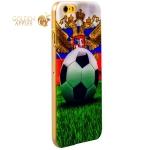 Чехол с рисунком для iPhone 6S Plus/ 6 Plus GA-Print Футбольный мяч и греб РФ вид 14