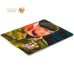 Кожаный чехол книжка для iPad 4 / 3 / 2 Jisoncase Executive Print с рисунком Рамзан Кадыров вид 2