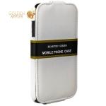 Кожаный чехол-книжка для iPhone 6S / 6 Exakted с откидным верхом, цвет белый