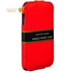 Кожаный чехол-книжка для iPhone 6S / 6 Exakted с откидным верхом, цвет красный