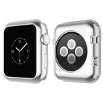 Силиконовый чехол для Apple Watch Series 2 / 3 (42 mm) COTEetCI TPU case (CS7041-TS), цвет серебристый